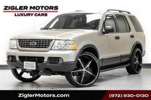 2003 Ford Explorer for sale at Zigler Motors in Addison TX