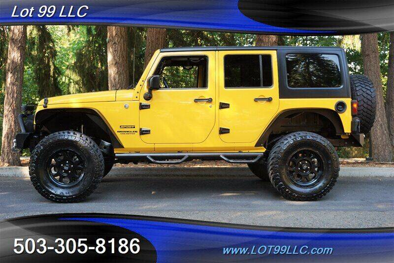 2015 Jeep Wrangler Unlimited for sale at LOT 99 LLC in Milwaukie OR