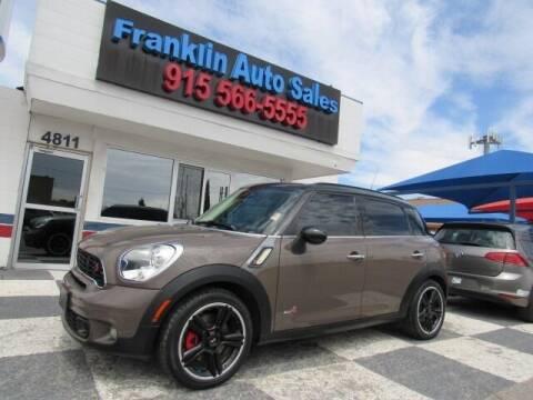2013 MINI Countryman for sale at Franklin Auto Sales in El Paso TX