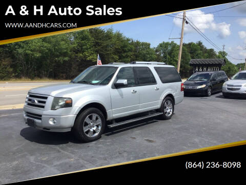 2010 Ford Expedition EL for sale at A & H Auto Sales in Greenville SC