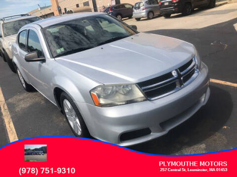 2011 Dodge Avenger for sale at Plymouthe Motors in Leominster MA