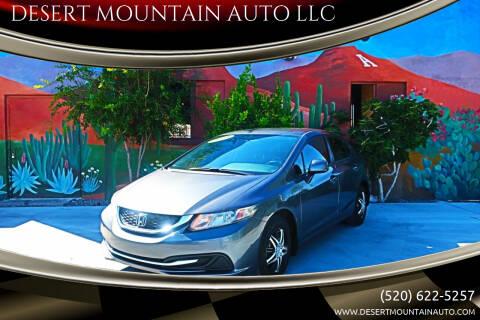 2013 Honda Civic for sale at DESERT MOUNTAIN AUTO LLC in Tucson AZ