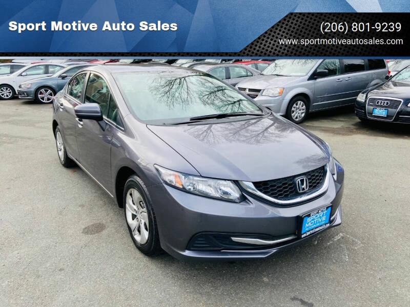 2015 Honda Civic for sale at Sport Motive Auto Sales in Seattle WA