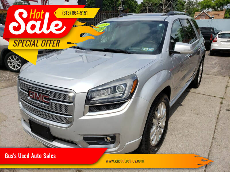 2015 GMC Acadia for sale at Gus's Used Auto Sales in Detroit MI