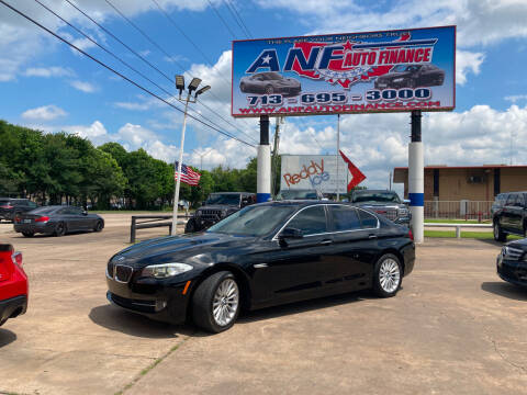 2013 BMW 5 Series for sale at ANF AUTO FINANCE in Houston TX