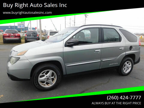 2004 Pontiac Aztek for sale at Buy Right Auto Sales Inc in Fort Wayne IN