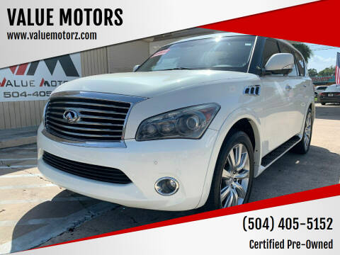 2012 Infiniti QX56 for sale at VALUE MOTORS in Kenner LA