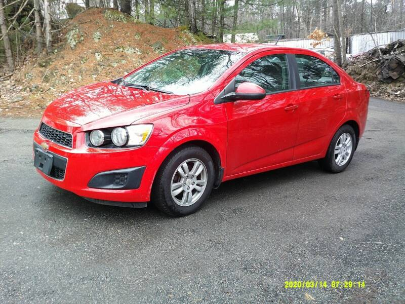 2012 Chevrolet Sonic for sale at Jack Mansur's Auto LLC in Pelham NH
