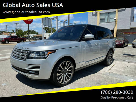 2016 Land Rover Range Rover for sale at Global Auto Sales USA in Miami FL