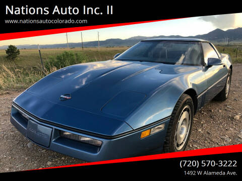 1984 Chevrolet Corvette for sale at Nations Auto Inc. II in Denver CO