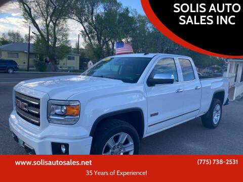 2014 GMC Sierra 1500 for sale at SOLIS AUTO SALES INC in Elko NV