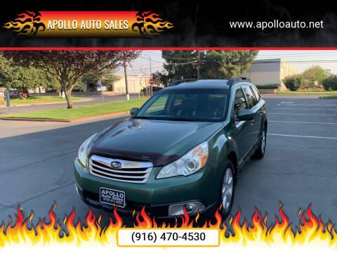 2010 Subaru Outback for sale at APOLLO AUTO SALES in Sacramento CA