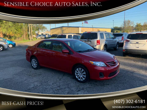2013 Toyota Corolla for sale at Sensible Choice Auto Sales, Inc. in Longwood FL