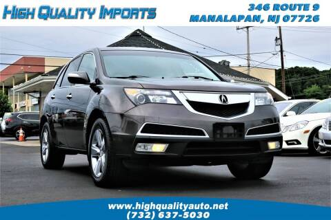 2012 Acura MDX for sale at High Quality Imports in Manalapan NJ