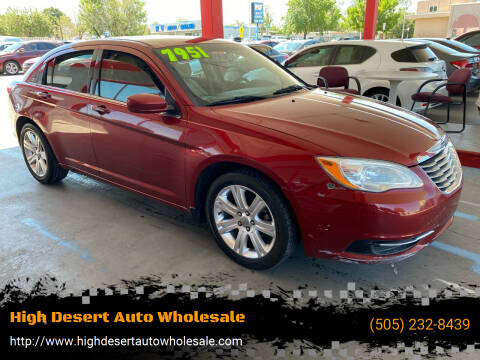 2012 Chrysler 200 for sale at High Desert Auto Wholesale in Albuquerque NM