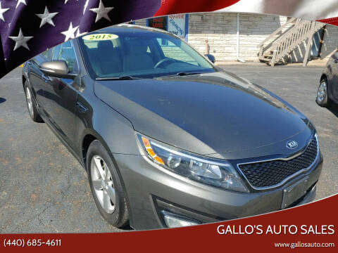 2015 Kia Optima for sale at Gallo's Auto Sales in North Bloomfield OH
