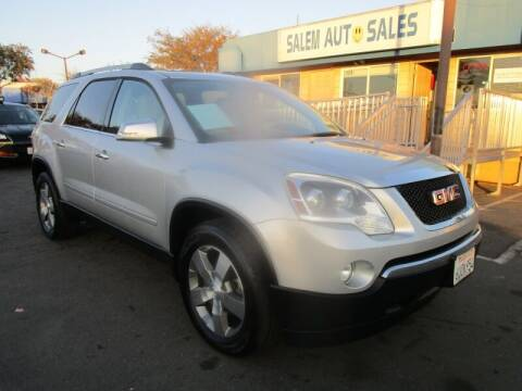 2012 GMC Acadia for sale at Salem Auto Sales in Sacramento CA