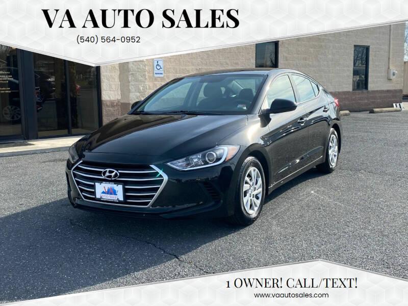 2018 Hyundai Elantra for sale at Va Auto Sales in Harrisonburg VA
