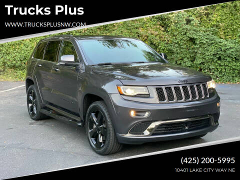 2015 Jeep Grand Cherokee for sale at Trucks Plus in Seattle WA