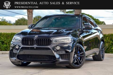 2016 BMW X6 M for sale at Presidential Auto  Sales & Service in Delray Beach FL