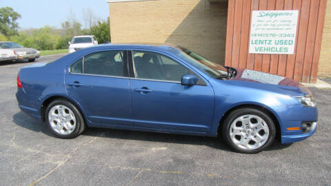 2010 Ford Fusion for sale at LENTZ USED VEHICLES INC in Waldo WI