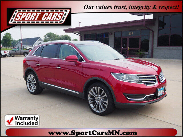 2016 Lincoln MKX for sale at SPORT CARS in Norwood MN