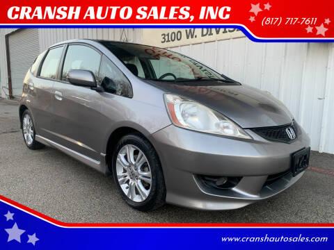 2009 Honda Fit for sale at CRANSH AUTO SALES, INC in Arlington TX