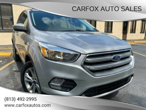 2017 Ford Escape for sale at Carfox Auto Sales in Tampa FL