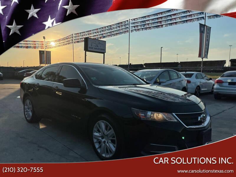 2014 Chevrolet Impala for sale at Car Solutions Inc. in San Antonio TX