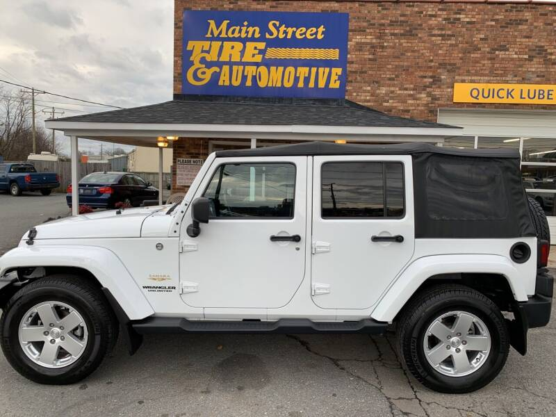 2012 Jeep Wrangler Unlimited for sale at Main Street Auto LLC in King NC