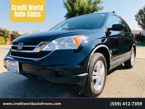 2010 Honda CR-V for sale at Credit World Auto Sales in Fresno CA