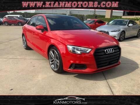 2019 Audi A3 for sale at KIAN MOTORS INC in Plano TX