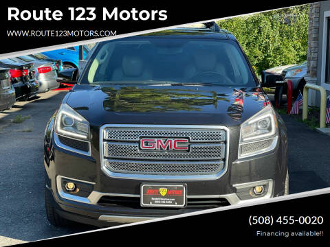 2013 GMC Acadia for sale at Route 123 Motors in Norton MA