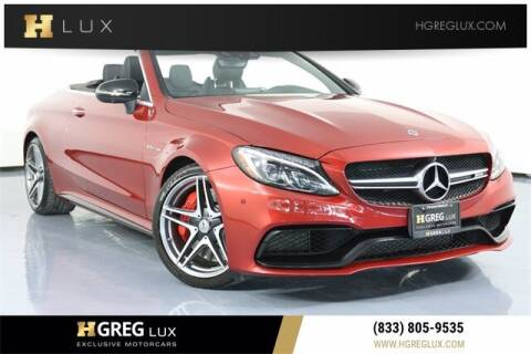 2018 Mercedes-Benz C-Class for sale at HGREG LUX EXCLUSIVE MOTORCARS in Pompano Beach FL