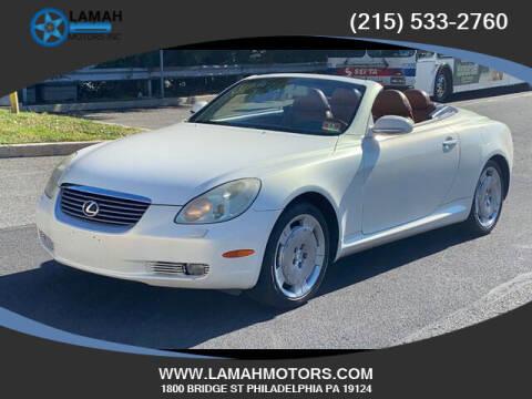 2002 Lexus SC 430 for sale at LAMAH MOTORS INC in Philadelphia PA