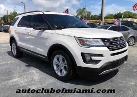 2016 Ford Explorer for sale at AUTO CLUB OF MIAMI in Miami FL