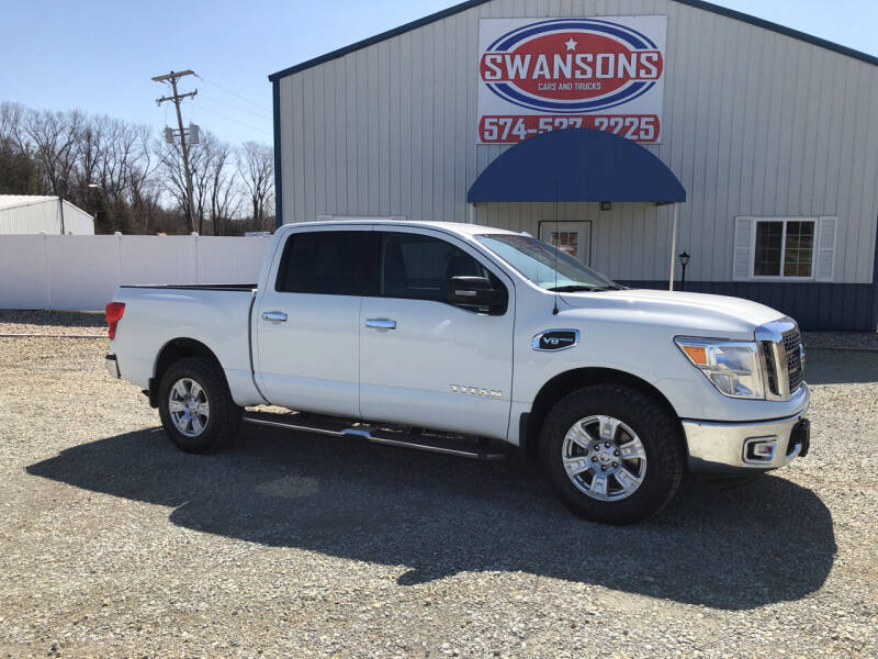 2017 Nissan Titan for sale at Swanson's Cars and Trucks in Warsaw IN
