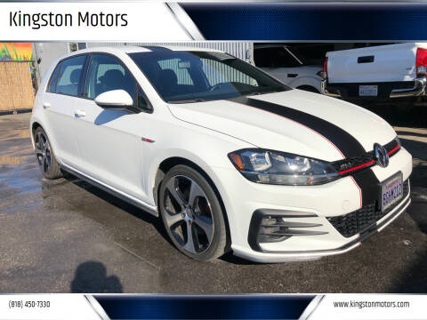 2018 Volkswagen Golf GTI for sale at Kingston Motors in North Hollywood CA
