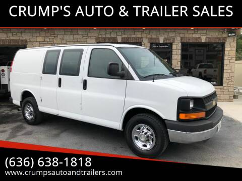2012 Chevrolet Express Cargo for sale at CRUMP'S AUTO & TRAILER SALES in Crystal City MO