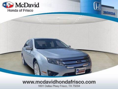 2010 Ford Fusion Hybrid for sale at DAVID McDAVID HONDA OF IRVING in Irving TX