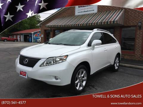 2010 Lexus RX 350 for sale at Towell & Sons Auto Sales in Manila AR