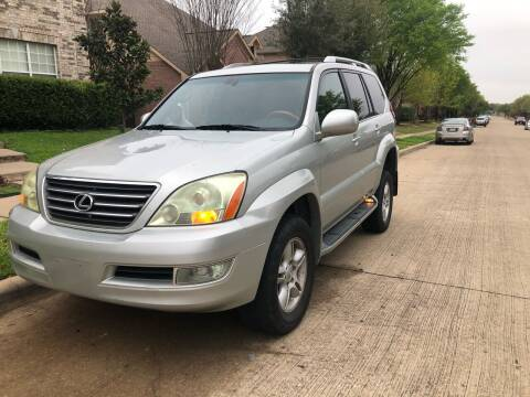 2004 Lexus GX 470 for sale at Dynasty Auto in Dallas TX