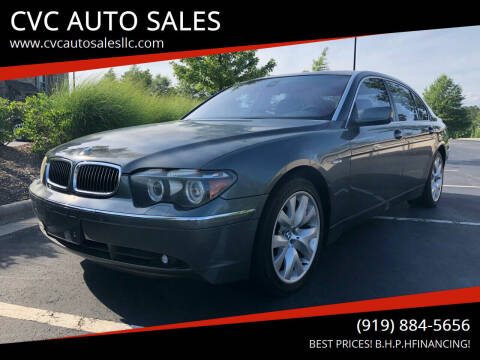2005 BMW 7 Series for sale at CVC AUTO SALES in Durham NC