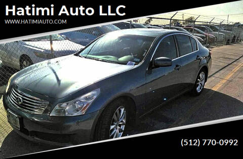 2008 Infiniti G35 for sale at Hatimi Auto LLC in Buda TX
