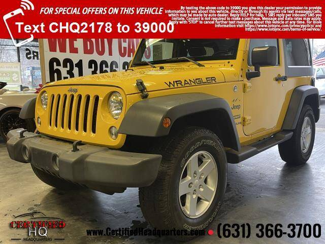 2015 Jeep Wrangler for sale at CERTIFIED HEADQUARTERS in St James NY