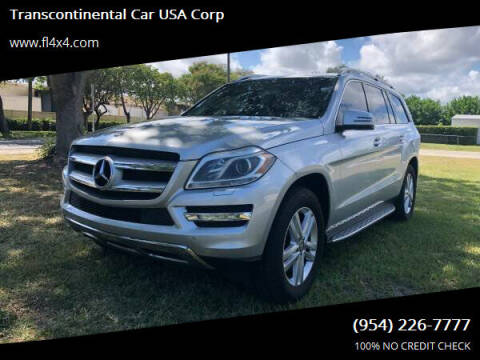 2014 Mercedes-Benz GL-Class for sale at Transcontinental Car USA Corp in Fort Lauderdale FL