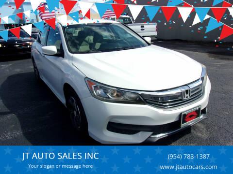 2016 Honda Accord for sale at JT AUTO SALES INC in Oakland Park FL