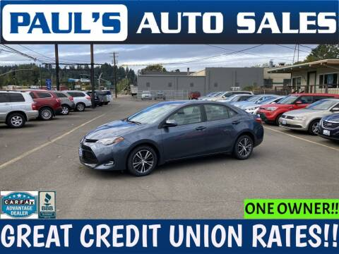 2018 Toyota Corolla for sale at Paul's Auto Sales in Eugene OR