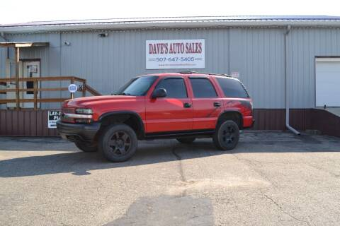 2000 Chevrolet Tahoe for sale at Dave's Auto Sales in Winthrop MN