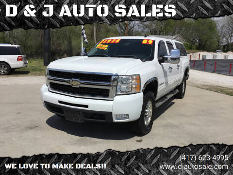 2009 Chevrolet Silverado 2500HD for sale at D & J AUTO SALES in Joplin MO